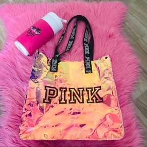 Holographic Iridescent Victoria's Secret PINK Tote
